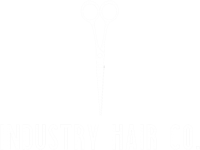 Industry Hair Co white scissors logo